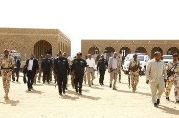 Sovereign Council Chairman El Burhan visits proposed coronovirus quarantine centres in Khartoum, March 15, 2020 (SUNA)