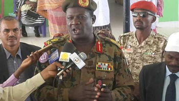 Acting governor of North Darfur Maj Gen Malik Khojali, April 27 (Social media)
