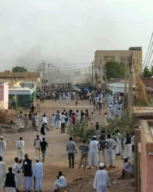 A street scene during the recent clashes in Kassala (Social Media)