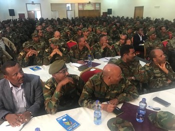 A meeting of the top of the Ethiopian army in 2018 (Social media)