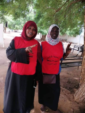 Two women at the first day of the Ed Daein sit-in in Central Darfur (Social media)