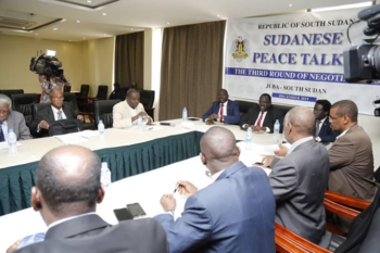 A session of the Sudanese Peace Talks in Juba last year prior to Covid-19 social distancing protocols (File photo)