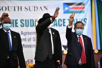 Signing of the Juba peace accord (File photo)