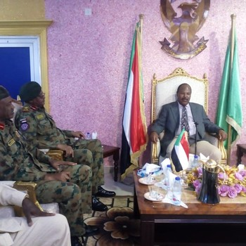 South Darfur wali (governor) Mousa Mahdi sworn in in Nyala  last August (SUNA)