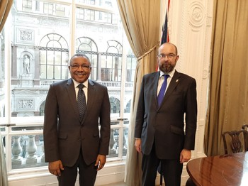 Min of Foreign Affairs Omar Gamareldin meets James Duddridge, British Minister for African Affairs (Social media)