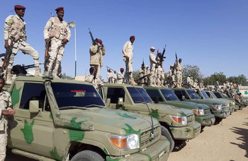 RSF troops and land cruisers arrive in Nyala (SUNA)