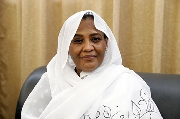 Minister of Foreign Affairs Maryam El Sadig El Mahdi (SUNA)