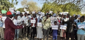 One of yesterday's protests in Gireida, South Darfur (Social media)