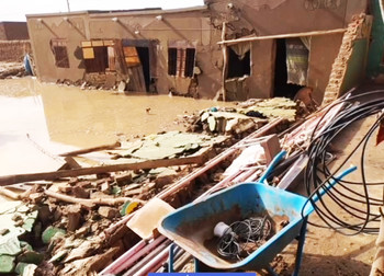 Destroyed homes in River Nile State (Photo: Hadreen)