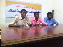 Darfur Students Association press conference in Khartoum on 30 June 2016 (RD)