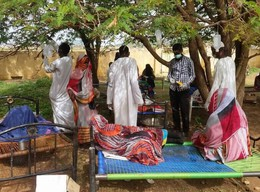 Cholera patients in Salemeen village in El Gedaref this year (File photo: RD)
