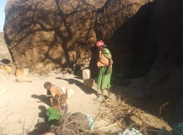 New displaced hide in caves in Darfur's Jebel Marra without access to aid, June 17, 2018 (RD)