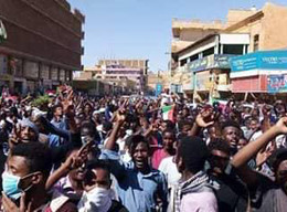 Mass protest in Omdurman (File photo)