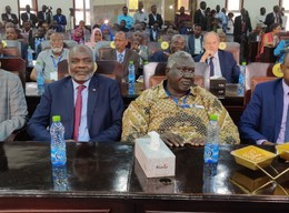 Leaders of armed movements at the Juba peace negotiation in September (Social media)