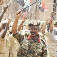 Major General Abbas Abdelaziz, RSF commander, reviews his fighters (Aberfoyle Security)