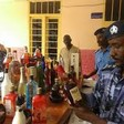 Sudanese police with confiscated contraband commercial alcohol (File photo)
