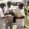 Newspaper vendors in Khartoum (File photo)