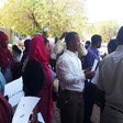 Journalists protest the seizure of 14 newspapers in Khartoum