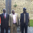 In this photo extended to Dabanga Sudan, JEM's Jibril Ibraim, SLM's Abel Wahid El Nur and SLM's Minni Minawi pose for a picture at the Austrian Study Centre for Peace and Conflict Resolution in Stadtschlaining, Austria, 27 and 28 of May 2015