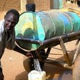 Donkey cart selling water in in the outskirts of Khartoum (file photo)