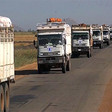 The first WFP convoy crossing into South Sudan from Sudan, carrying 700 metric tons of food, November 2014 (un.org)