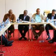 AU mediators and Sudan opposition leaders at the start of their consultation meeting in Addis Ababa on 22 August (AUHIP)