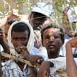 Eritrean asylum seekers in an eastern Sudanese camp (file photo)