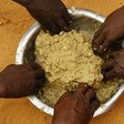 Eating dry sorghum porridge in Darfur (File photo)