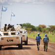 UN peacekeepers on patrol in Abyei. UN Photo/Stuart Price