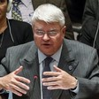 Herve Ladsous speaks to Security Council representatives in New York, October 2014 (file photo)