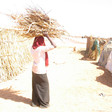 A young woman with firewood in a Darfur camp for the displaced (File photo: Genocide Intervention Network)