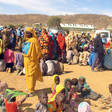 Newly displaced people arrive in Sortony, near the Unamid team site, after fleeing their homes in Jebel Marra, February 2016 (Unamid)