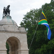 The South African flag is lowered to half-mast at the country's National War Memorial at Delville Wood in Northern France (File photo, South African Legion)