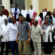 Medics protest in Port Sudan against the murder of a colleague in Omdurman, March 10, 2016 (RD)
