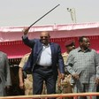 President Omar Al Bashir at a rally in Darfur (file photo)