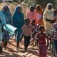 Women and children at Kalma camp for the displaced near Nyala, South Darfur (file photo)