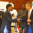 On 2 August 2016, Ambassador Tomas Ulicny, Head of the Delegation of the EU, and Selva Ramachandran, Country Director, UNDP, signed a joint project in Khartoum with Unamid to strengthen peace dialogues in Darfur. (Priyanka Chowdhury/Unamid)