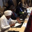 The signing of the AU roadmap by four Sudanese opposition groups in Addis Ababa, 8 August 2016 (RD)