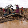 The makeshift structures that provide shelter to thousands in the Darfur camps for the displaced are no match for extreme weather. Homes are regularly devastated by seasonal flash floods, leaving the displaced destitute (File photo: RD)