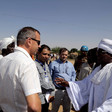 Ambassador Tomas Ulicny, Head of the Delegation of the European Union in Sudan, speaks to the displaced people in Kalma camp (EU/file photo)