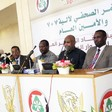 Members of the National Dialogue 7+7 Mechanism in a press conference in Khartoum on 6 October 2016 (Suna)