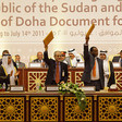 The signing ceremony of the Doha Document for Peace in Darfur (DDPD), 14 July 2011 (O. Chassot/Unamid)