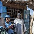 Unamid peacekeepers interact with displaced people in Darfur during a routine patrol (File photo: Unamid)