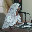 Dr Amaal Jabrallah speaks at a press conference of the Communist Party of Sudan on the cholera epidemic (supplied)