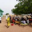 Patients suffering from cholera or with suspected infection are isolated outside of Tindelti hospital, North Kordofan, July 2017 (RD)