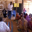 Activists provide information about cholera to the displaced people in Zamzam camp in North Darfur, July 2017  (RD)
