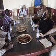 UNSC delegation meets local leaders in Golo Central Darfur on Tuesday (Picture: Hamid Abdlusalam / Unamid)