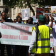 400 people took to the streets in London on Saturday 30 June afternoon to protest increasingly friendly ties between the governments of the UK and Sudan (Picture: Waging Peace)