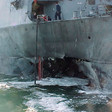 Damage to USS Cole after the Al Qaeda attack in 2000. US courts have ruled Sudan liable for collusion in the attack and ordered that it pay compensation to the victims (Photo: US Navy)