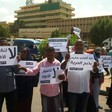 Journalists strike for press freedom in Sudan in December last year (File photo)